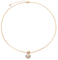 Neoglory Magic Mirror Clear Round Crystal Necklace