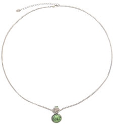 Neoglory Magic Mirror Lime Round Crystal Necklace