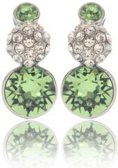 Neoglory Magic Mirror Lime Round Crystal Earrings