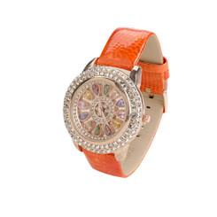 Rainbow Leather Wrist Watch