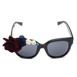 Asymmetric Oversized Flower Sunglasses