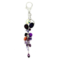 Crystal Cluster Beaded Keyring