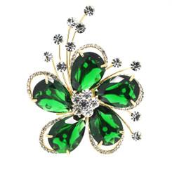 Neoglory Divine Droplet Crystals/Zircons Flower Brooch