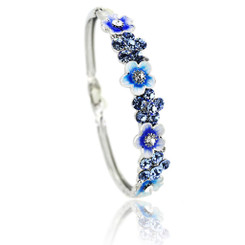 Neoglory Sparkling Crystalized Daisy Flowers Bangle