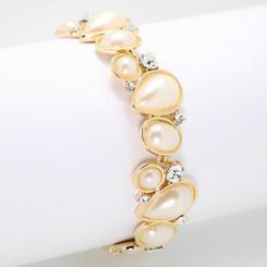 Neoglory Glamorous Geometric Essential Pearls Bracelet