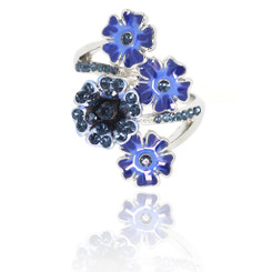 Neoglory Blooming Cluster Daisy Zircon/Crystals Ring