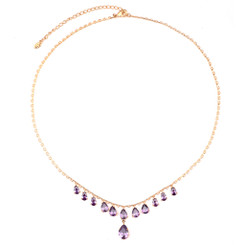 Neoglory Charming Ellipse Crystals Dangling Necklace
