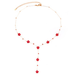 Neoglory Delicate Crystals Daisy Flower Necklace