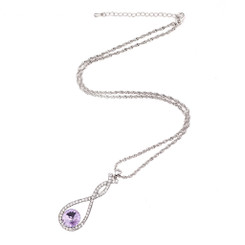 Neoglory Glamorous Infinity Dangling Necklace