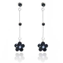 Neoglory Delicate Crystals Daisy Flower Earrings