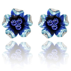 Neoglory Gorgeous Enamelled Roses/Butterfly Earrings