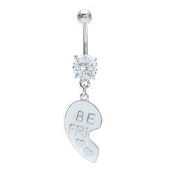 Matching Best Friend 'Be Fri' Belly Bar