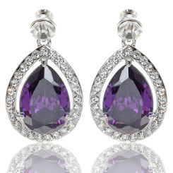 Neoglory Exquisite Zircons/Crystals Doprplet Earrings