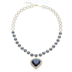 Neoglory Glamorous Zircons/Crystals Dangling Heart Necklace