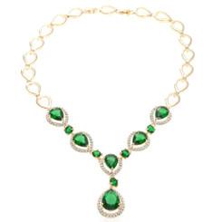 Neoglory Exquisite Zircons/Crystals Doprplet Necklace