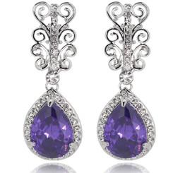 Neoglory Glamor Zircon/Crystals Filigree Drop Dangling Earrings