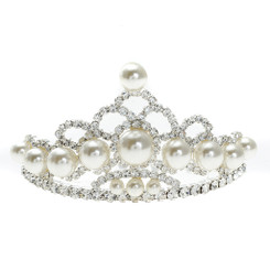Small Crystal Crown Style Tiara