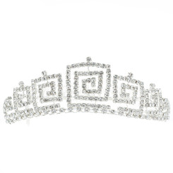 Square Crystal Tiara