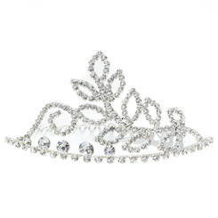 Crystal Leaf & Stem Tiara