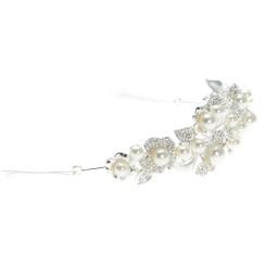 Floral Crystal & Pearl Tiara