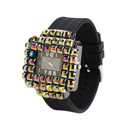 Square Gem Wrist Watch