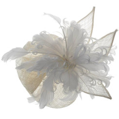 White Slide in Fascinator