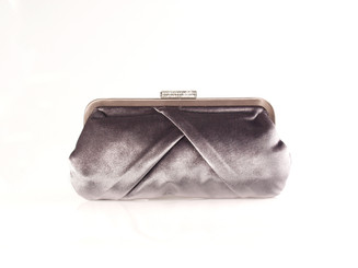 Grey Velvet Evening Bag