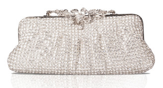 Silver Large Flower Crystal Bag