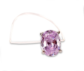 Elasticated Purple Square Crystal Toe Ring