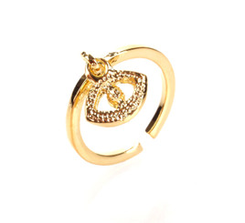 Gold Plated Black Crystal Seeing Eye Toe Ring