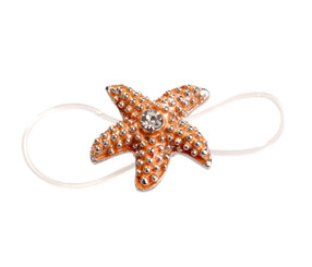 Orange Elasticated Starfish Toe Ring