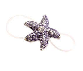 Purple Elasticated Starfish Toe Ring