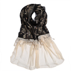 Two Tone Lace Scarf