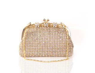 Gold Butterfly Crystal Bag