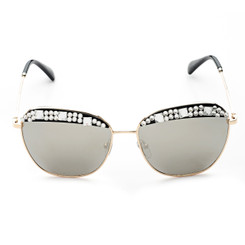 Clear Crystal Rim Sunglasses
