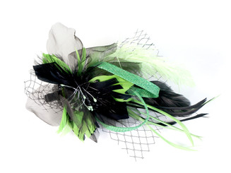 Green Flower Fascinator