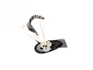 Black & White Feather Fascinator