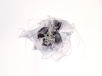 Lace Flower Crystal Fascinator