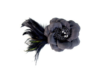 Flower Fascinator with Feather