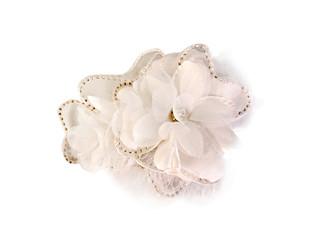 White Decorative Crystal Flower Fascinator