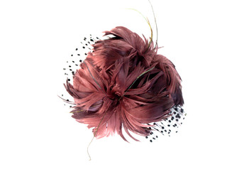 Feather Lace Flower Fascinator