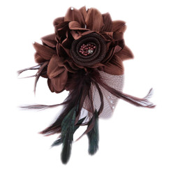 Flower with feather fascinator