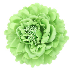 Green Peony flower fascinator