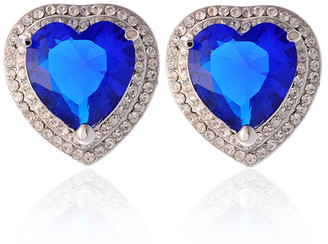 Blue Sapphire Heart Of The Ocean Earrings
