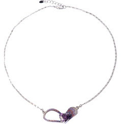 Silver & Purple Heart Shaped Necklace
