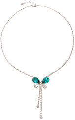 Silver & Turquoise Butterfly Necklace