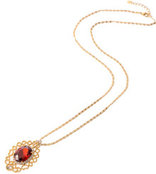Neoglory Viola Czech Crystal Gold Plated Ruby Red Jewellery Set Xmas Prom Tv19_Pendant