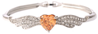 Neoglory Grace Amber Clear Czech Crystal White Gold Plated Jewellery Set Wedding Christmas Tv13_Bangle