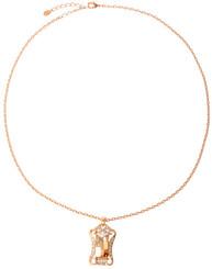 Neoglory Eva Amber Crystal Rose Gold/Gold Plated Jewellery Set Christmas Tv08G_Pendant