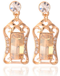 Neoglory Eva Amber Crystal Rose Gold/Gold Plated Jewellery Set Christmas Tv08G_Earrings